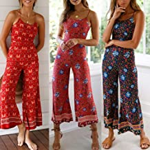 Hokny TD Women Summer Sleeveless V Neck Shorts Elastic Waist Jumpsuit Rompers