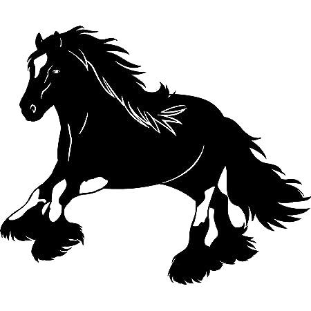 Der Pferdeshop Xl Pferdeaufkleber Für Auto Oder Hänger Mit Wunschtext Tinker P56a 25 Cm Auto