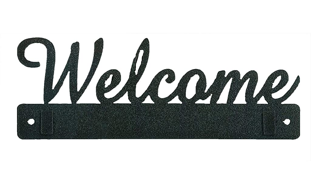 Ackfeld Manufacturing 35472 10in Welcome with Clips Charcoal Hanger