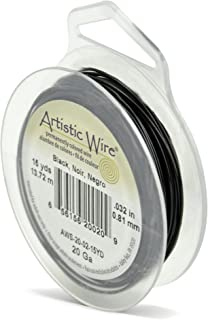 Beadalon Artistic, 20 Gauge, Black Color, 15 yd (13.7 m) Craft Wire