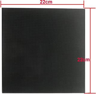 CCTREE 3D Printer Platform Ultrabase Heated Bed Build Surface Tempered Glass Plate for 3D Printers MK2/MK2A, ANET A8, ANET A6, Reprap, Mendel,Prusa I3 220x220x4mm