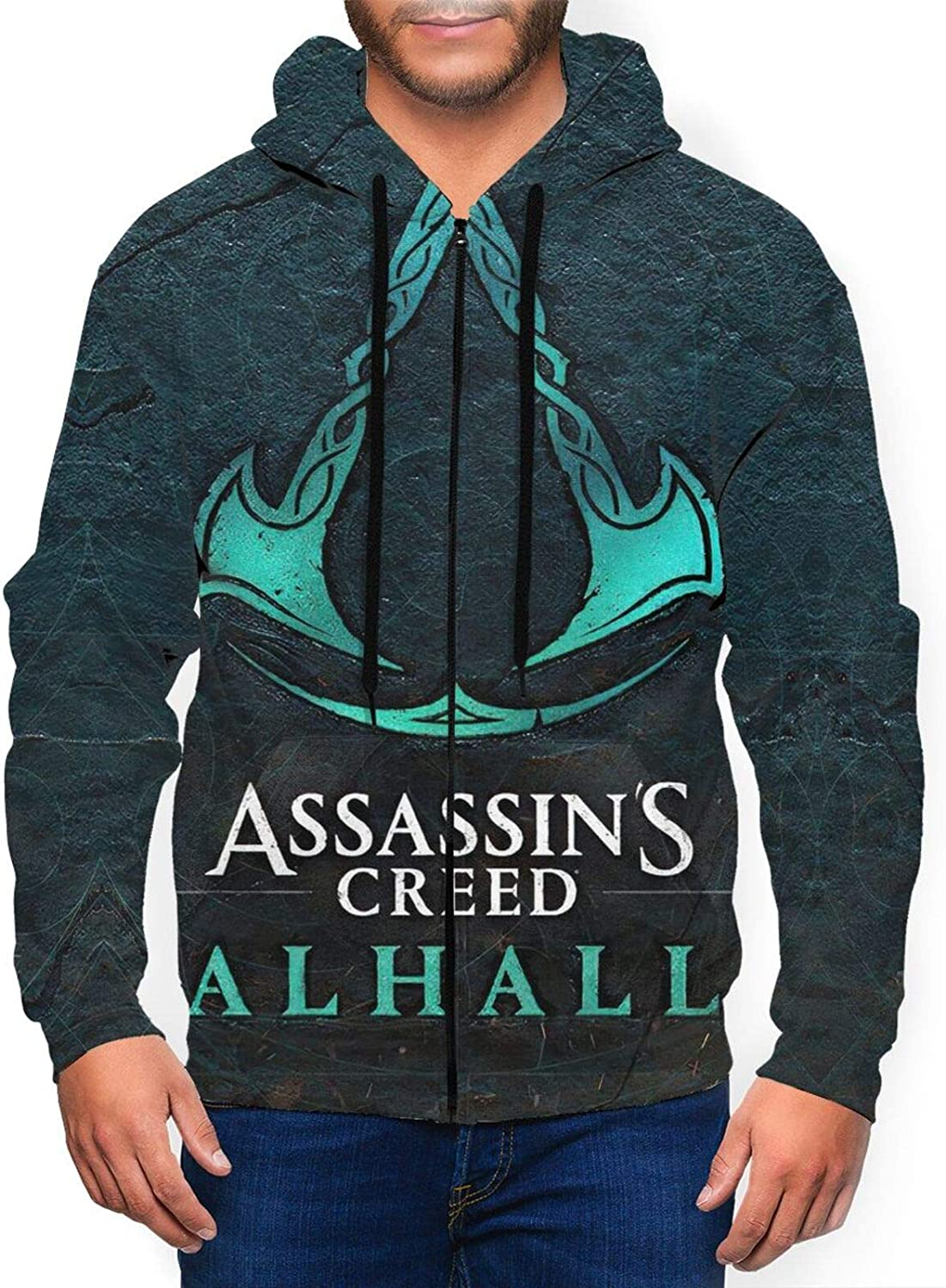 Logo-Ass-ass-in Men'S Hoodie Full Sweatshir Max 44% OFF Pullover Zip Year-end annual account Sweater