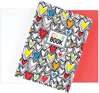 """International Arrivals is newly OOLY Make Notes 5.75"""" x 4"""" Color Book, Hearts (163-005)"""