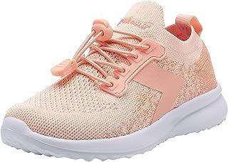 Ahannie Boys Girls Adjustable Bungee Lacing Slip On Sneakers Kids Lightweight Athletic Casual Walking Tennis Running Shoes(Toddler/Little Kid/Big Kid)