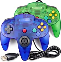 $24 » N64 Controller USB, King Smart Classic Wired N64 Controllers with Upgraded Joystick for Original Nintendo 64 Console(Sapph...
