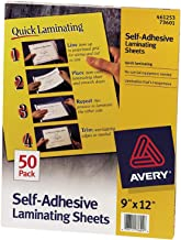 Avery Self-Adhesive Laminating Sheets, 9 x 12 Inches, Box of 50 (73601) Pack Of 2
