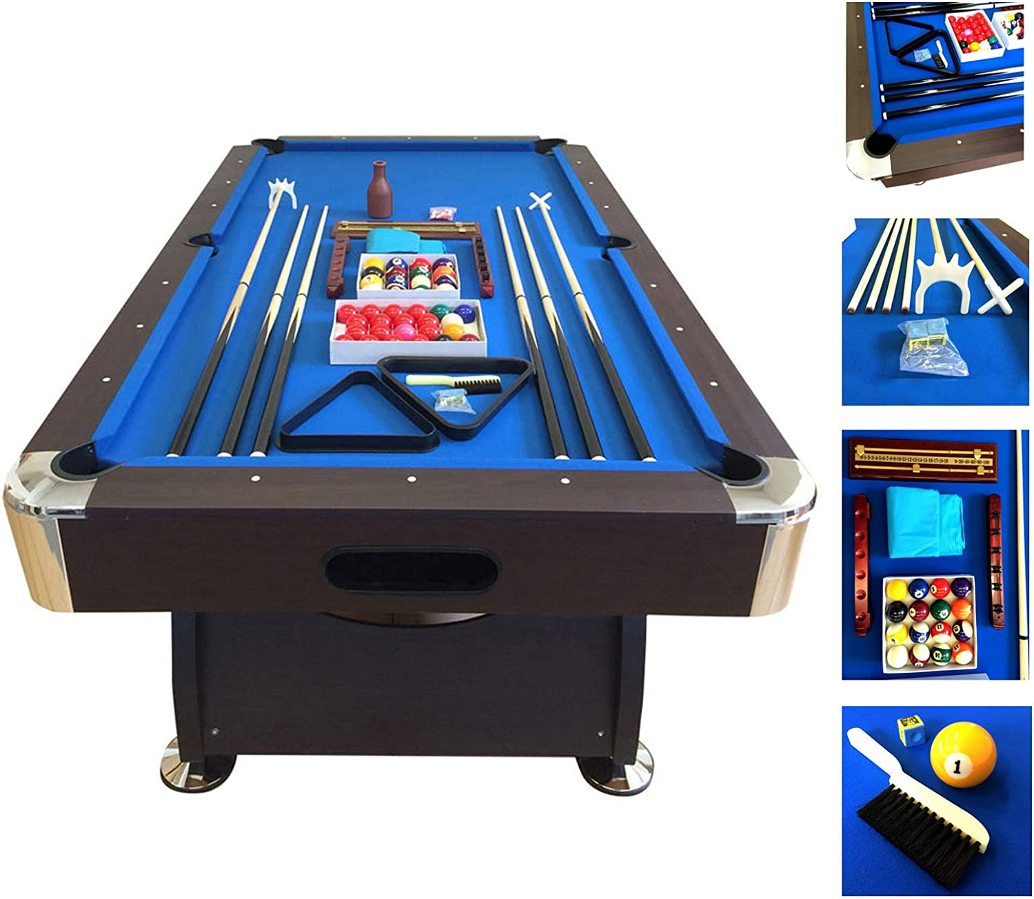 SIMBAUSA Billiard Pool Table 7' Full Feet Industry No. 1 Fashionable Snooker Set Accessorie