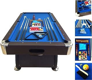 Billiard Pool Table 7' Feet Snooker Full Set Accessories Game mod. BLUE SEA