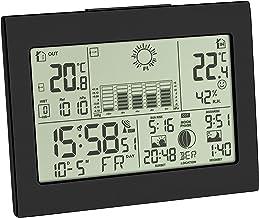 TFA Dostmann radiografisch weerstation HORIZON, 35.1155.01, binnen- en buitentemperatuur, weersvoorspelling door luchtdru...