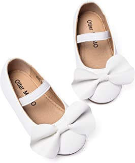 Toddler Girls Ballet Flats Mary Jane Dress Shoes with Bow Knot …