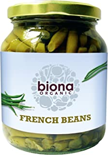 Biona Organic Jarred French Beans 340g (Pack of 6)