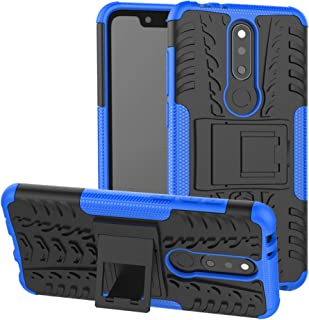 LiuShan for Nokia 5.1 Plus case, Shockproof Heavy Duty Combo Hybrid Rugged Dual Layer Grip with Kickstand for Nokia 5.1 Pl...