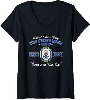 Womens USS Chung Hoon DDG-93 V-Neck T-Shirt