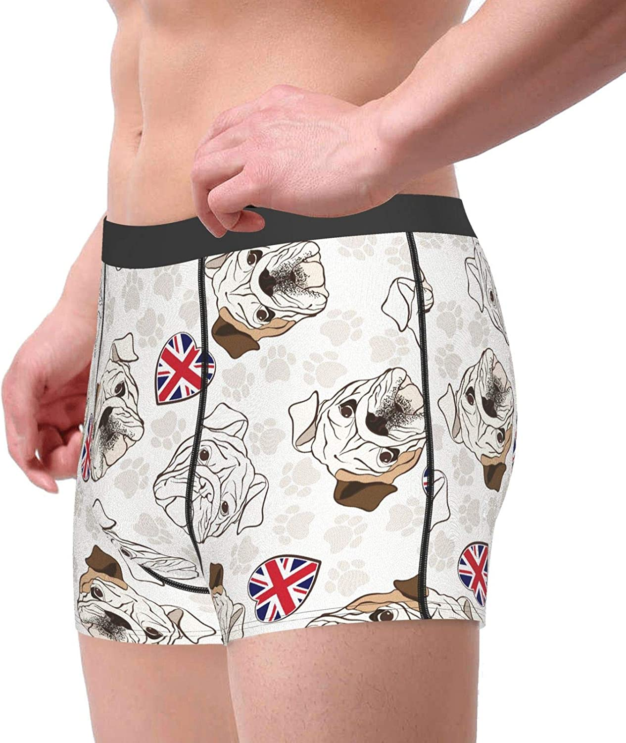 Men's Boxer Briefs No Ride-up Breathable Comfortable Sport Underwear Trunks for Men, Youth