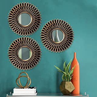 Round Wall Mirror for Home Decoration,Set of 3 Decorative Wall hangnig Mirror, Wall Mirror for Living Room (10 x 10 Inchs)...