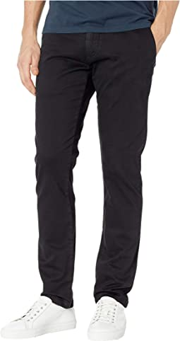 Johnny Regular Rise Slim Chino in Black Sateen