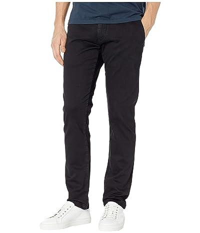 Mavi Jeans Johnny Regular Rise Slim Chino in Black Sateen (Black Sateen) Men