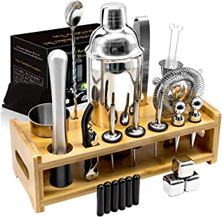 26Pcs Stainless Steel Cocktail Bar Tool Set,Perfect Bar...
