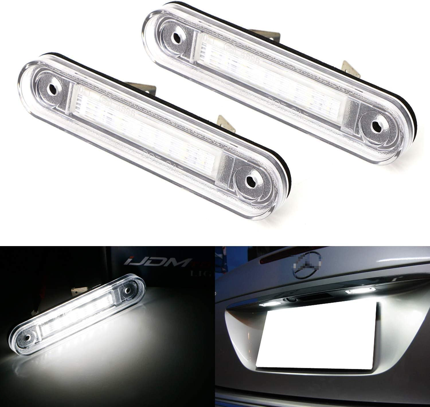 iJDMTOY OEM-Fit Long Beach Mall 3W Full LED License Light W Compatible Kit Special price for a limited time Plate