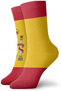 Hangdachang, Calcetines para hombres y mujeres: calcetines coloridos divertidos con la bandera de España