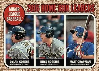 2017 Topps Heritage Minor League 2016 Homerun Home Run Leaders - Dylan Cozens - Matt Chapman - Rhys Hoskins Prospect Baseball Rookie Card #191