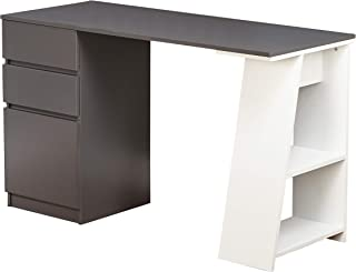 Target Marketing Systems Como Study Desk, Gray/White