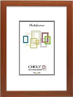 comprar comparacion Chely Intermarket, Marco de Fotos Grande 50x70 cm/Cerezo/MOD-254, Hecho Madera sólida, Ancho de Bastidor 1,20 cm con Acaba...