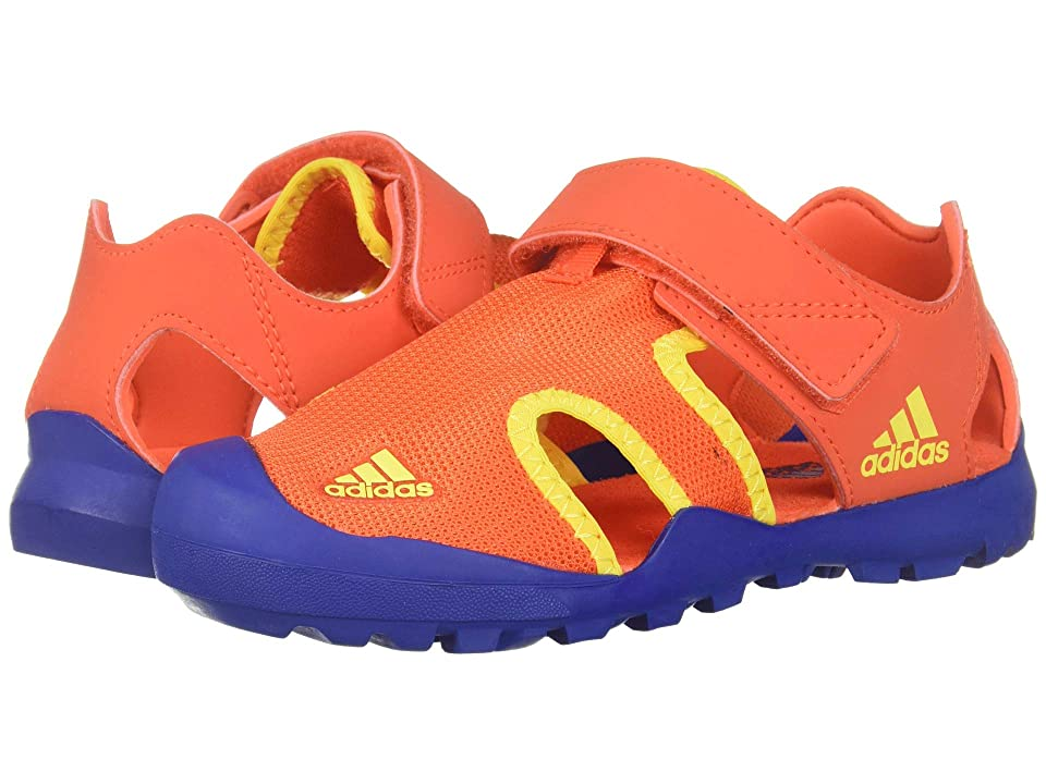 Image of adidas Outdoor Kids Captain Toey (Toddler/Little Kid/Big Kid) (Active Orange/Collegiate Royal/Shock Yellow) Boys Shoes