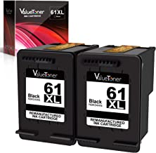 Valuetoner Remanufactured Ink Cartridge Replacement for HP 61XL 61 XL High Yield for Envy 4500 5530 5534, Deskjet 2540 1000 1010, Officejet 4630 2620 4635 Printer (Black, 2 Pack)