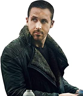 Ryan Gosling Blade Runner 2049 Faux Shearling Leather Trench Coat with Artificial Fur