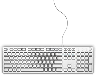 Dell Wired Multimedia Keyboard, White, 580-ADME