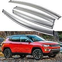 SPEEDLONG 4Pcs Car Window Visor Vent Shade Deflector Sun/Rain Guard fit for Jeep Compass 2018 2019 2020
