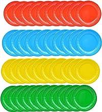 Lote de 10 Vasos Desechables de cart/ón con dise/ño de Lunares de Papel para cumplea/ños 250 ml 8.3 * 7.4CM Bodas Fiestas cart/ón Fablcrew Amarillo