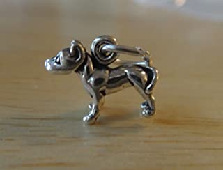 Charm - Sterling Silver - Jewelry - Pendant - Pit Bull American Staffordshire Terrier