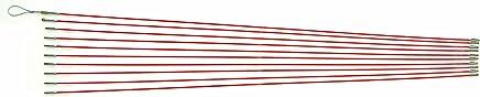 デンサン ジョイント釣り名人スリム φ3mm×1.0m オレンジ 10本 ケーブル索引具 JF-310