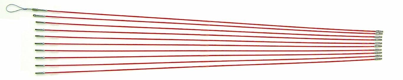 ダッシュケニア重さデンサン ジョイント釣り名人スリム φ3mm×1.0m オレンジ 10本 ケーブル索引具 JF-310