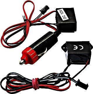 LED Mafia Ambientebeleuchtung Trafo Spannungswandler EL Lichtleiste Zigarettenanzünder 12V (für Zigarettenanzünder)