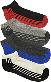 SMG® 12 Pairs Mens Sport Trainer Low cut Socks Plain Stripe Design - Size 6-14
