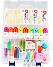 Cute School Supplies Syringe Pens Novelty Pens 27pcs Include 6 Syringe Highlighter Pens, 4 Syringe Pens,12 Vitamin Pill Pen, 3 Band Aid Sticky Notes, 2 Washi Tape Set Gift for Nurse