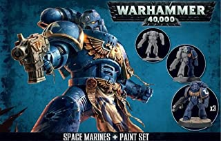 Games Workshop Warhammer 40,000 Space Marines and Paint Set