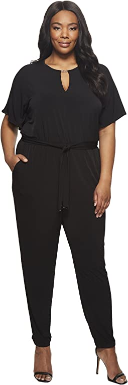 MICHAEL Michael Kors - Plus Size Solid Square Sleeve Jumpsuit
