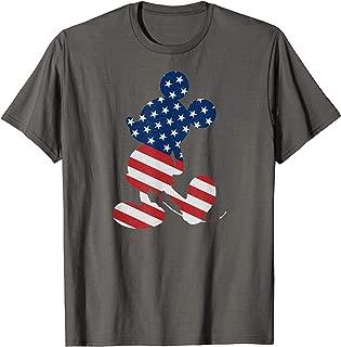 Disney Mickey Mouse American Flag USA  T-Shirt