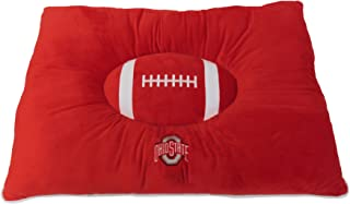 Pets First Collegiate Pet Accessories, Dog Bed, Ohio State Buckeyes, 30 x 20 x 4 inches