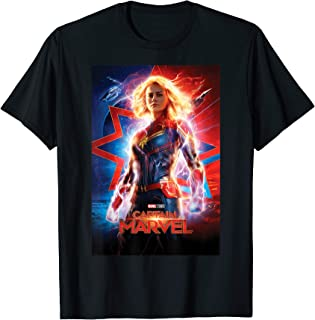 Marvel Captain Marvel Suited Up Poster T-Shirt