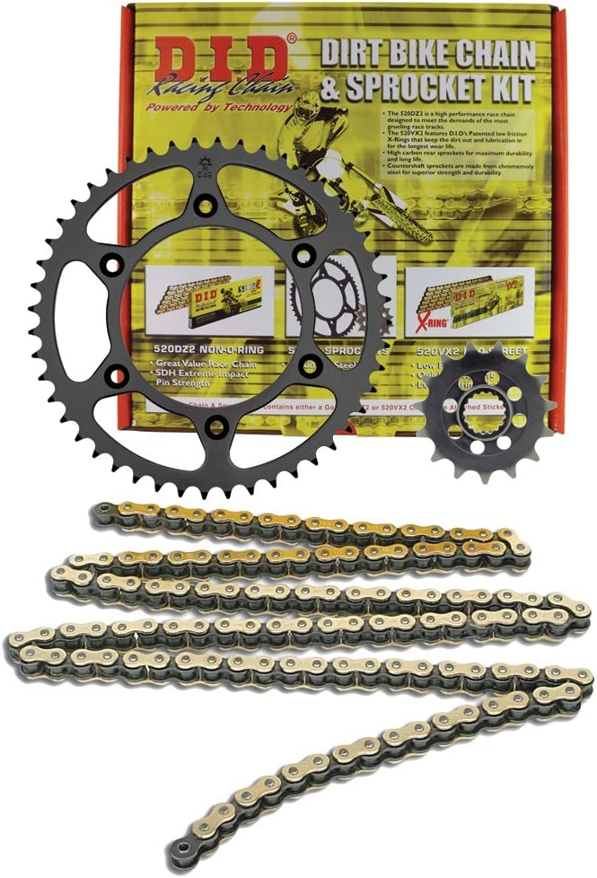 OFFicial site D.I.D MXS-009OEM 520VX2 Gold Super beauty product restock quality top! Chain Sprocke 44 15 and Teeth