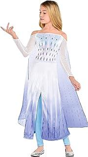 Party City Disney Frozen 2 Epilogue لباس السا هالووین برای کودکان شامل لباس ، شلوار استرچ ، برای تظاهر به بازی