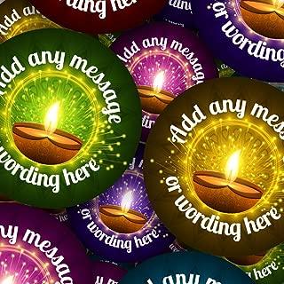 Graphic Flavor Happy Diwali Festival India Personalized Sticker Labels (35 Stickers @ 1.4