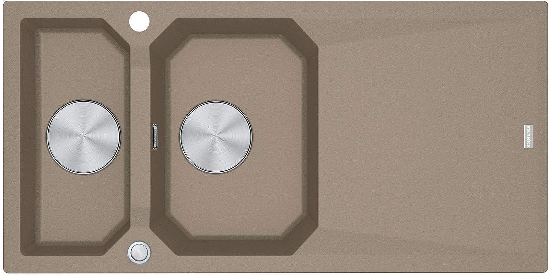 Franke FXG 661 Cashmere - 114.0512.430 Granitspüle Exzenterbettigung