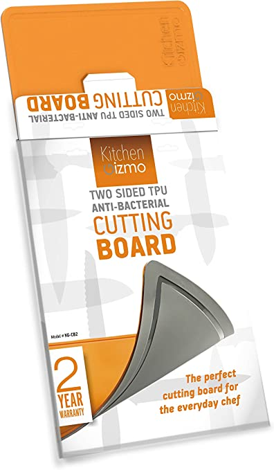 Kitchen Gizmo Cutting Board Dual Sided Antibacterial Scratch Resistant Non Slip Mats Yet Flexible Knife Friendly Tpu Juice Groove Anti Microbial Dishwasher Safe Fda Approved Amazon De Home Kitchen