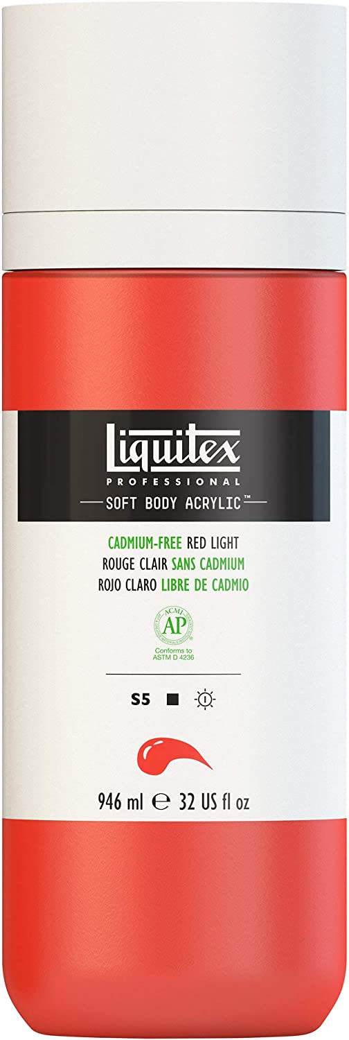 Direct sale of manufacturer Liquitex Professional Soft Safety and trust Body Acrylic Cadm 32-oz bottle Paint